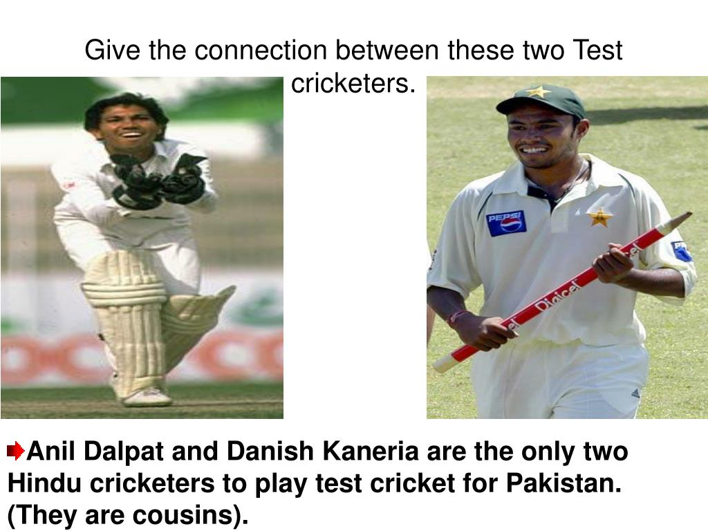 Give the connection between these two Test cricketers.