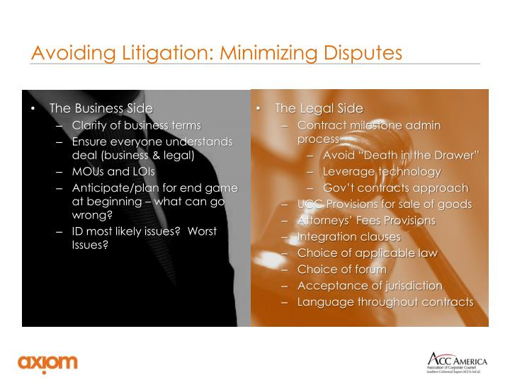 Avoiding Litigation: Minimizing Disputes