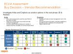 eclm assessment buy decision vendor recommendation