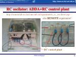 rc oscilator adda rc control plant