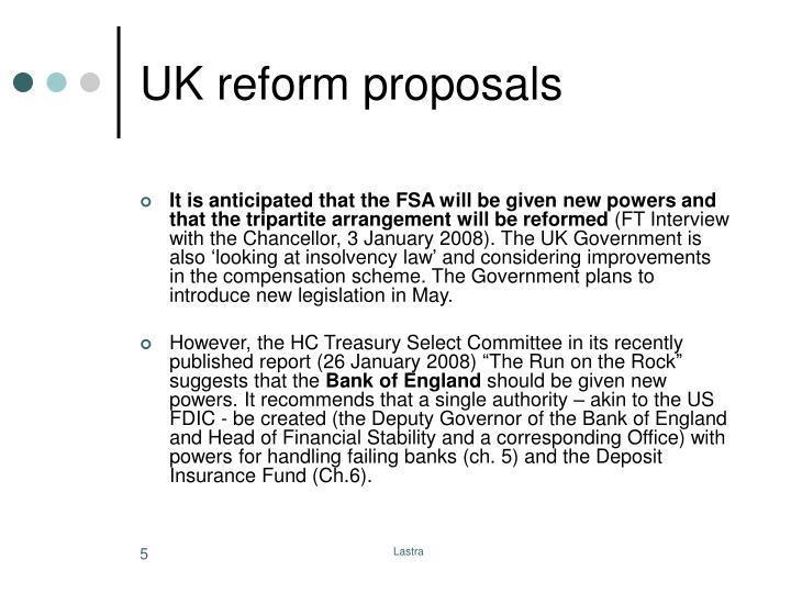 UK reform proposals