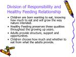 division of responsibility and healthy feeding relationship