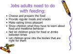 jobs adults need to do with feeding