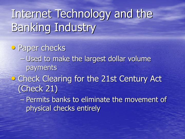 check 21 act ,[ check clearing for the 21st century act] essay Overview check 21 is designed to foster innovation in the payments system and to enhance its efficiency by reducing some of the legal impediments to check truncation citation edit check clearing for the 21st century act, pub l no 108-100 (oct 28, 2003) (became effective on oct.