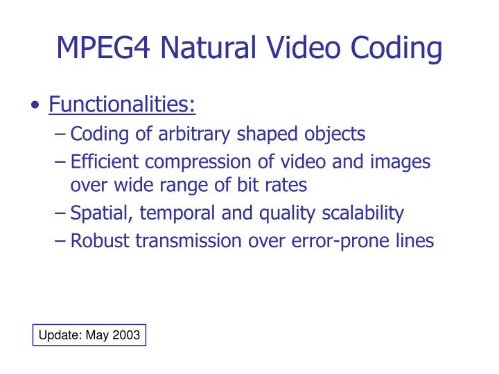 mpeg4 natural video coding n.