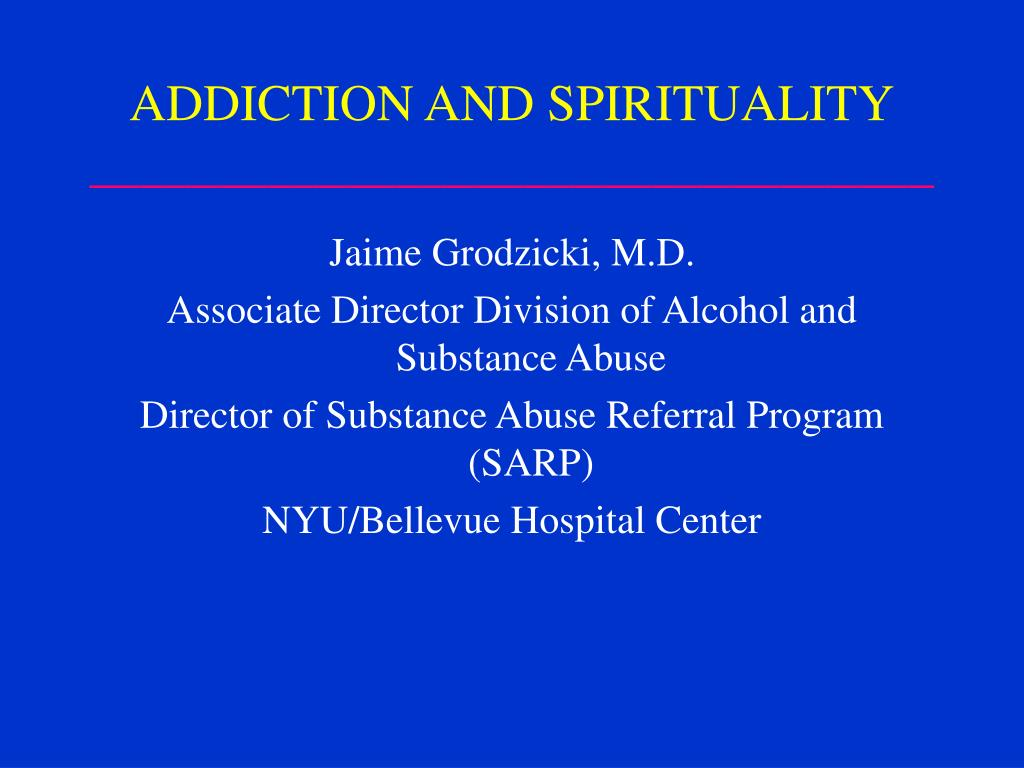 addiction and spirituality l.