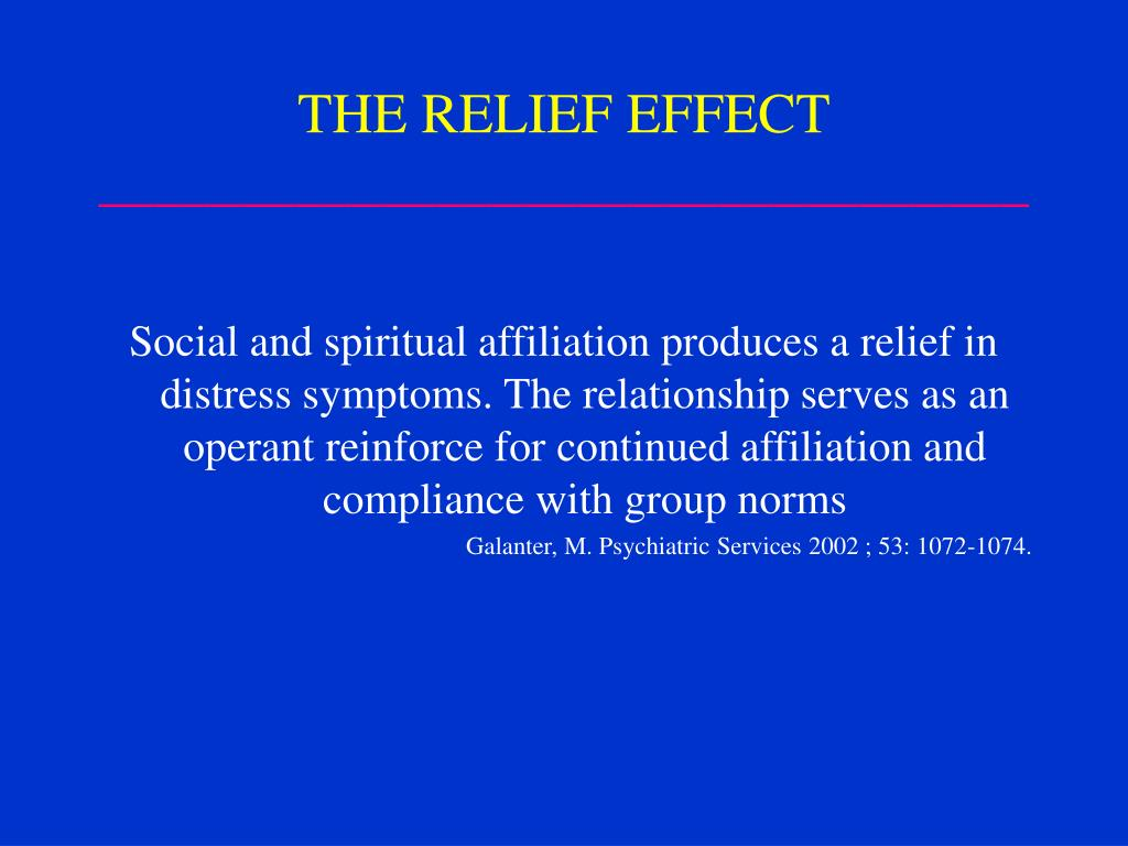THE RELIEF EFFECT