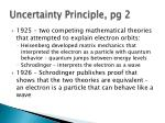 uncertainty principle pg 2