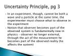 uncertainty principle pg 3