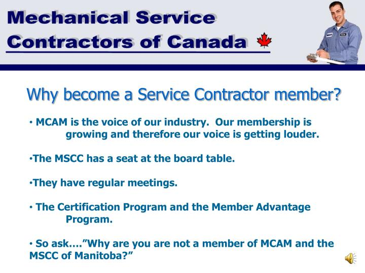 Why become a Service Contractor member?