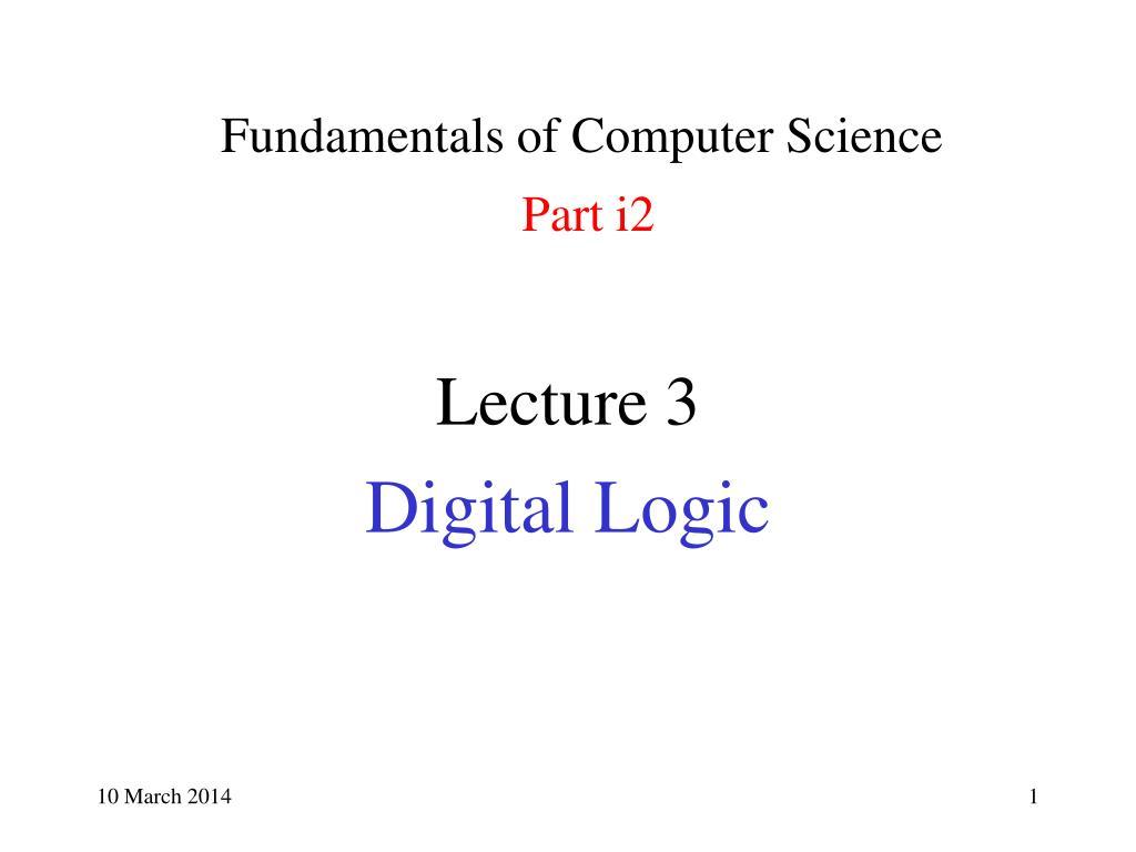 fundamentals of computer science part i2 l.