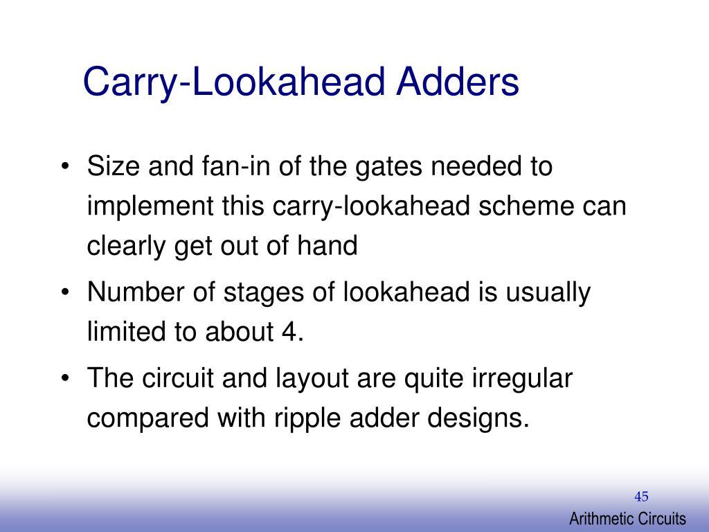 Carry-Lookahead Adders