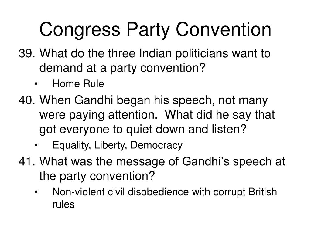 Congress Party Convention