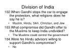 division of india
