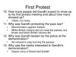 first protest