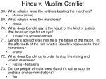 hindu v muslim conflict