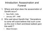 introduction assassination and funeral