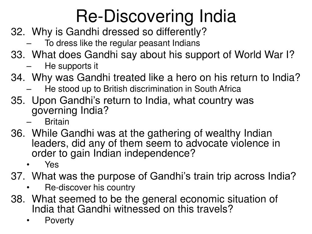 Re-Discovering India