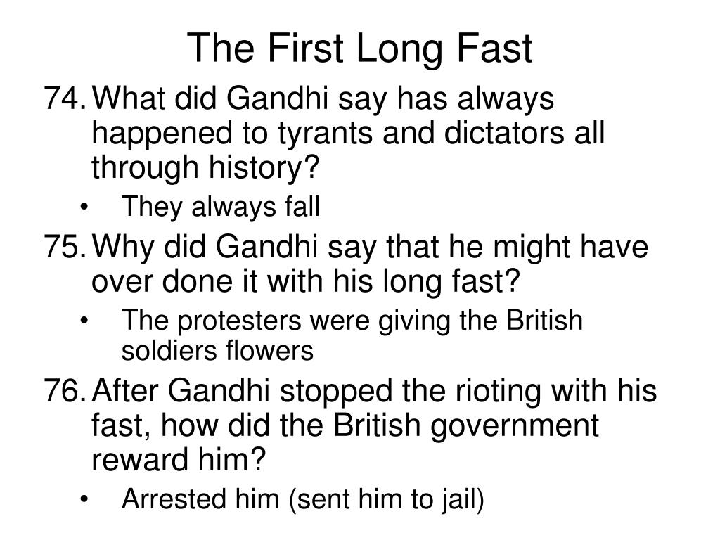 The First Long Fast