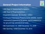 general project information