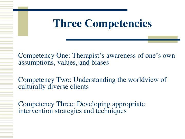 Three Competencies