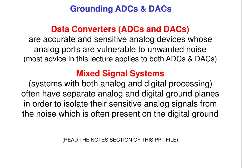 grounding adcs dacs