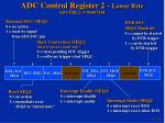 adc control register 2 lower byte adctrl2 @ 0x007101