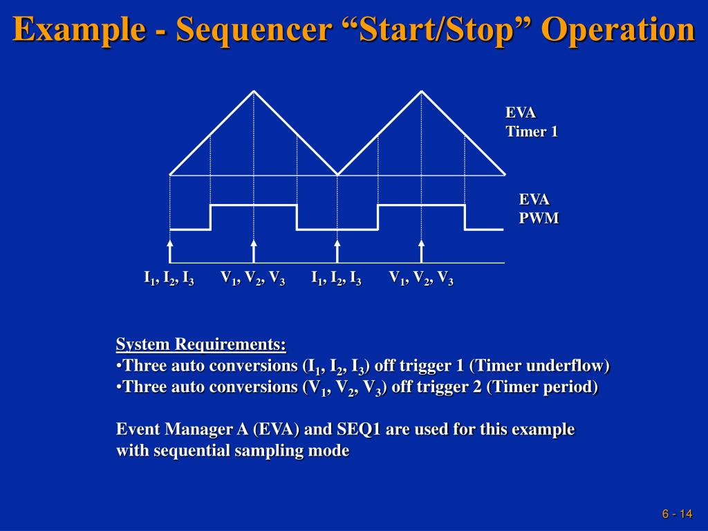 """Example - Sequencer """"Start/Stop"""" Operation"""