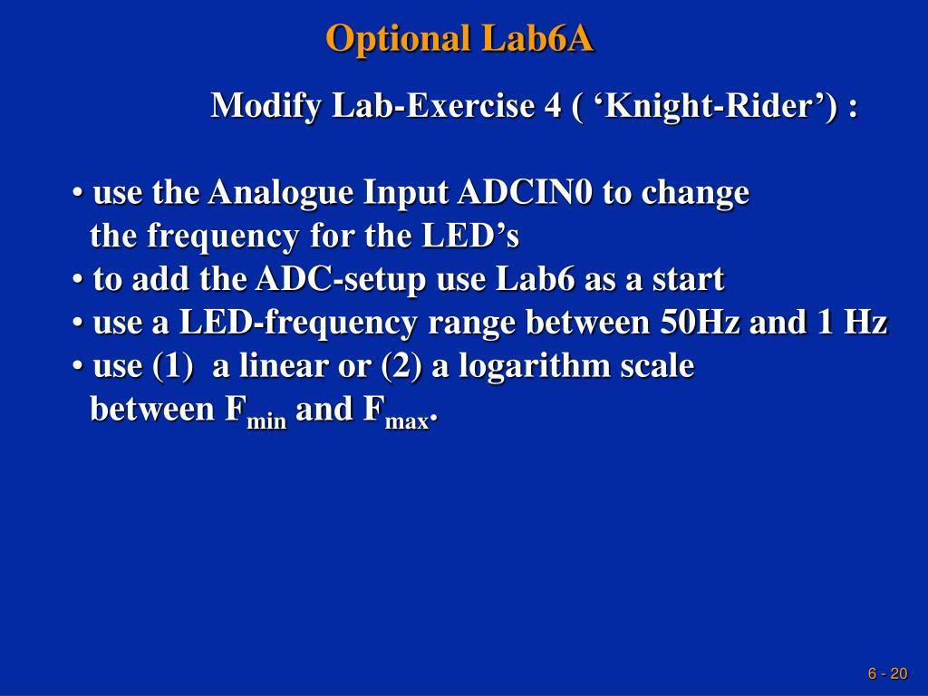 Optional Lab6A