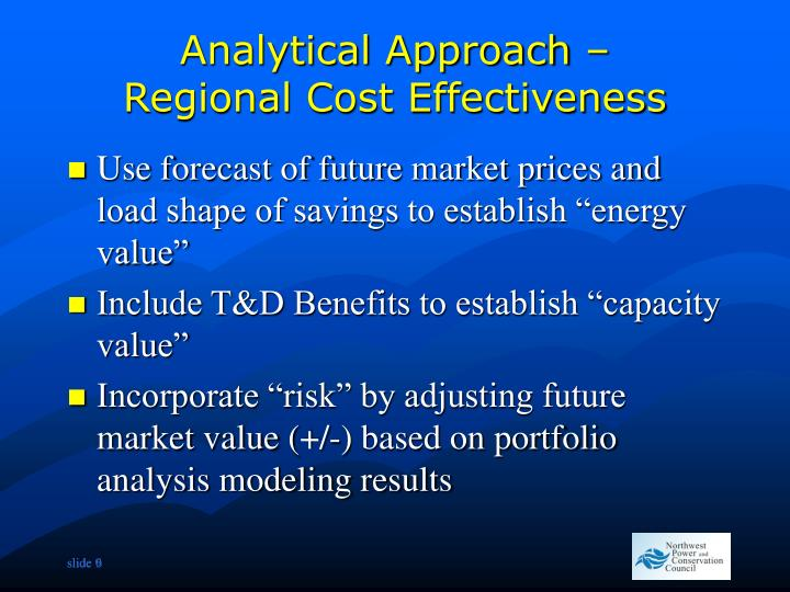 Analytical Approach –