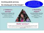 involving adults services the missing part of the triangle