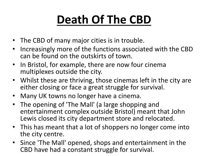 Death Of The CBD