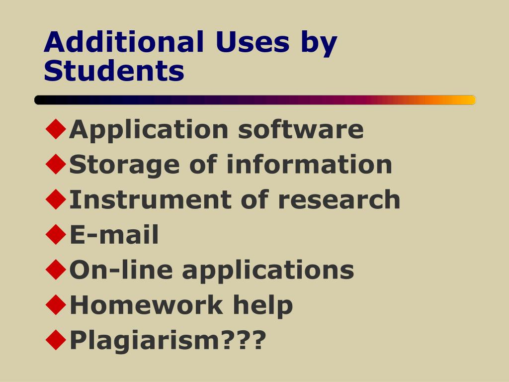 Additional Uses by Students