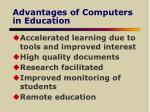 advantages of computers in education
