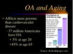 oa and aging