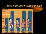 recommended calcium in diet