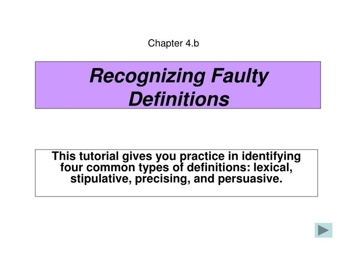 recognizing faulty definitions n.