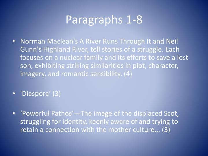 Paragraphs 1 8