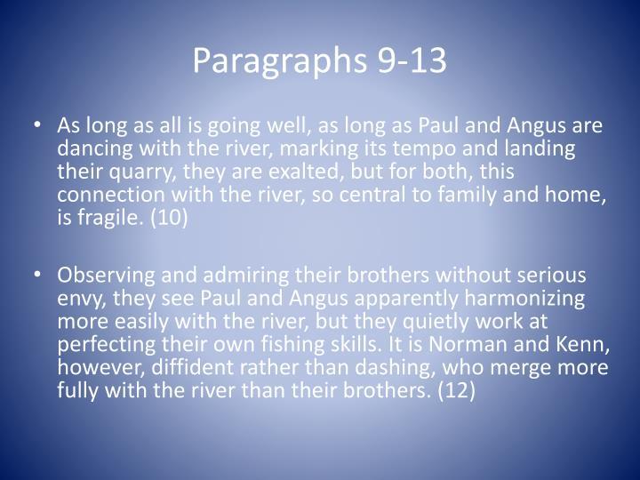 Paragraphs 9-13