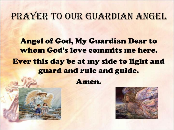 prayer to our guardian angel n.