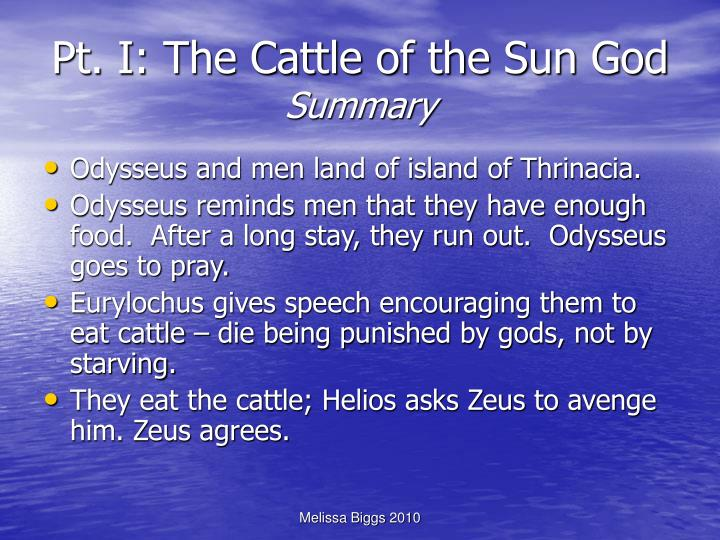 Pt. I: The Cattle of the Sun God