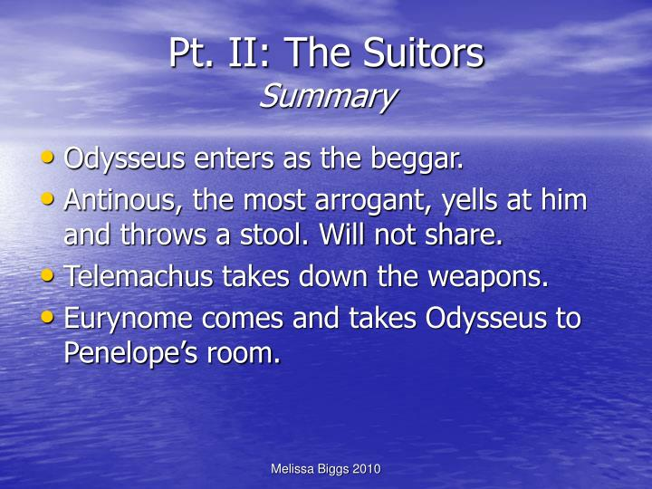 Pt. II: The Suitors