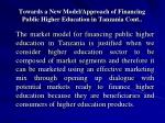 towards a new model approach of financing public higher education in tanzania cont15