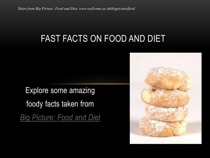 fast facts on food and diet n.