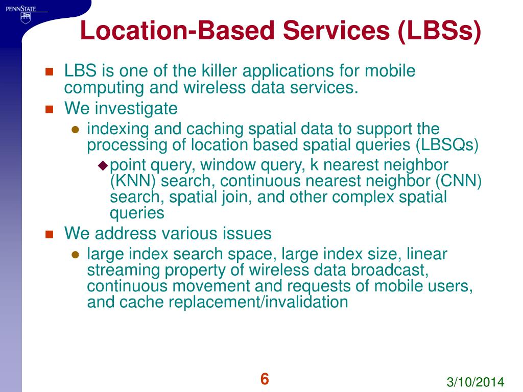 Location-Based Services (LBSs)