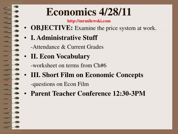 Economics 4/28/11