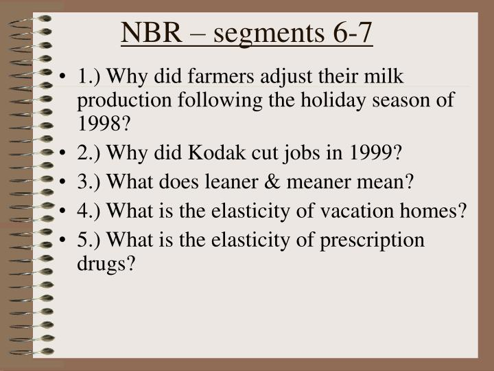 NBR – segments 6-7