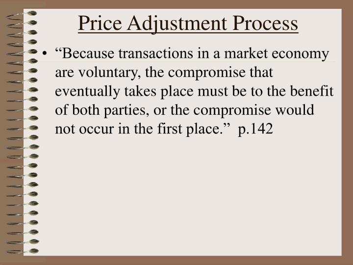 Price Adjustment Process
