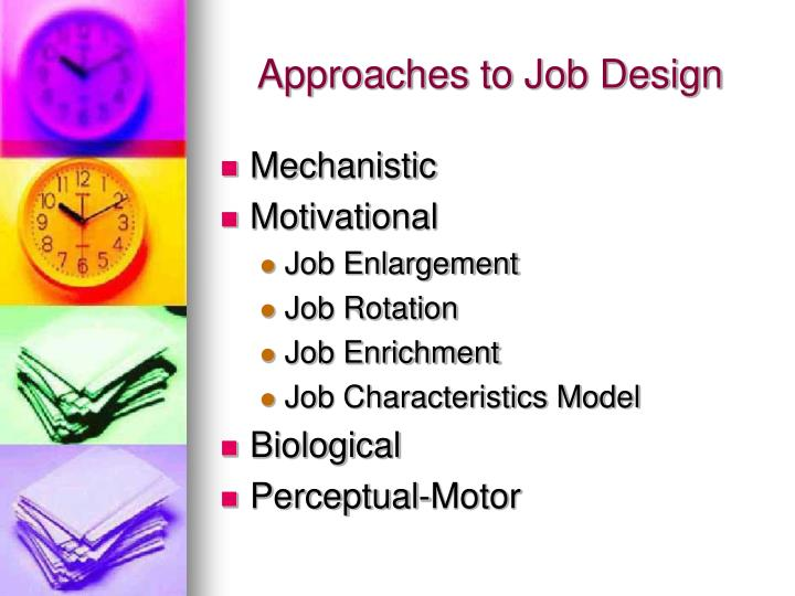 job enrichment and job rotation Job design:job rotation, job enlargement, job enrichment, skill variety organizational psychology social sciences psychology business management.