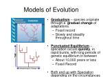 models of evolution